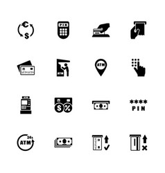 atm - flat icons vector image