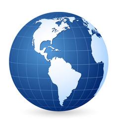 Blue world globe vector