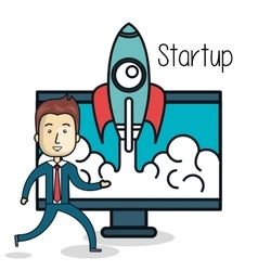 business start up flat icons vector image