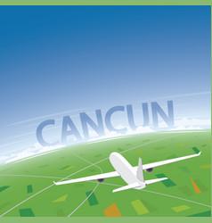 Cancun flight destination vector