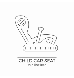 Child car seat thin line flat icon vector