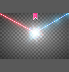 Collision of two forces with red and blue light vector