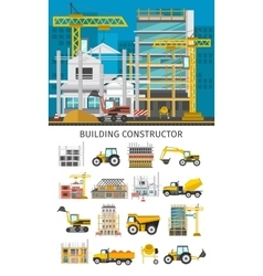Construction decorative elements set vector