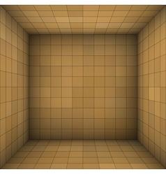 Empty futuristic room with brown beige walls vector