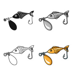 fishing bait icon in cartoon style isolated on vector image vector image