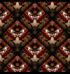 floral seamless pattern dark red paisley vector image