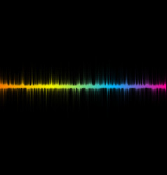 halftone sound wave design vector image