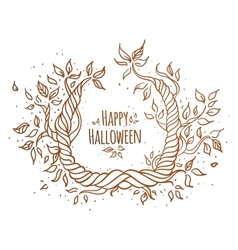 Hallowen trees vector image