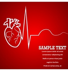 Heart pulse banner vector image vector image
