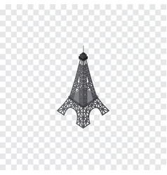 Isolated eiffel tower isometric paris vector