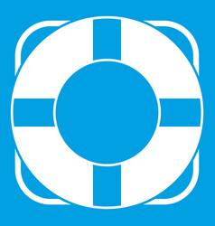 Lifeline icon white vector