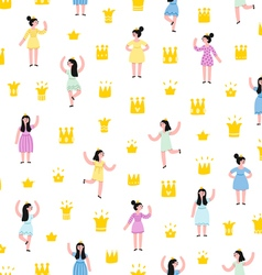 Little princesses pattern vector