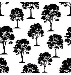 maple trees seamless vector image