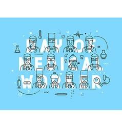 Medicine concept design day of medical worker vector