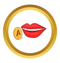 Mother language symbol icon vector