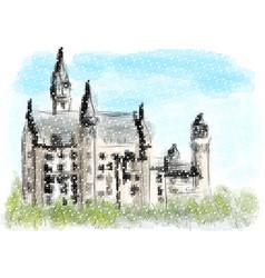Neuschwanstein castle vector
