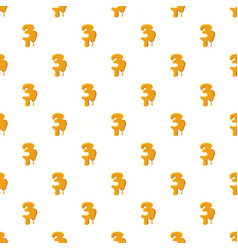 Number 3 from honey pattern vector