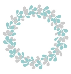 Pastel laurel wreath decorative frame isolated vector