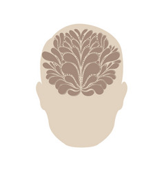 person with brain idea icon vector image