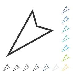 Pointer left down icon vector