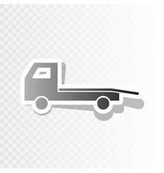 Service of evacuation sign wrecking car side car vector