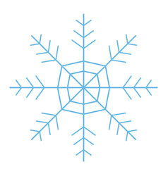 Snowflake freeze winter blue icon graphic vector