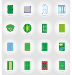 sport flat icons 57 vector image vector image