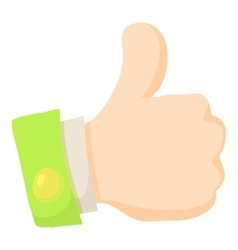 Thumbs up icon cartoon style vector