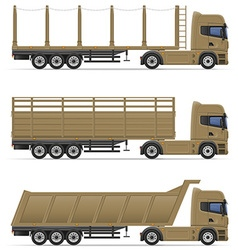 Truck semi trailer 14 vector