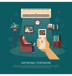 Ventilation conditioning heating vector