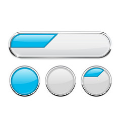 White and blue buttons vector