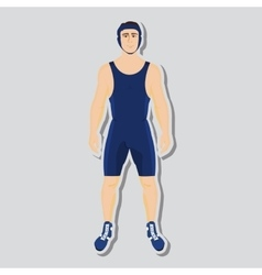 wrestler fighter vector image