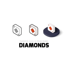 Diamonds icon in different style vector