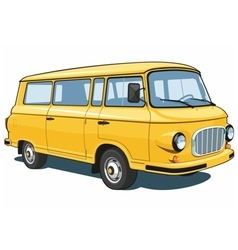 Yellow van vector