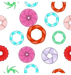 Aperture camera pattern cartoon style vector