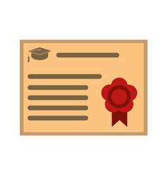 graduation diploma achievement vector image