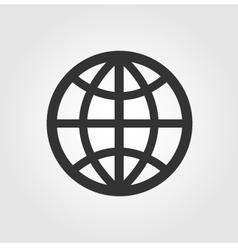 Earth Globe icon flat design vector image