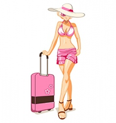 Vacation girl vector