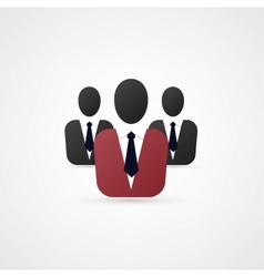 Man manager icon vector image