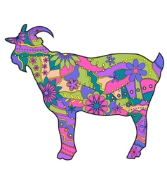 Colorful goat vector