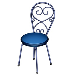 A blue chair furniture vector