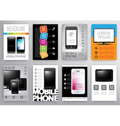 set of flyers and brochures design template vector image