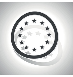 European union sign sticker curved vector