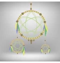 Retro dream catcher vector