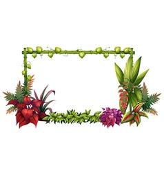 A garden vector image