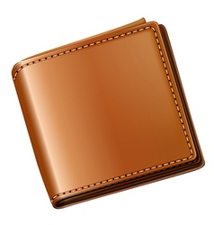 A topview of a brown wallet vector image vector image