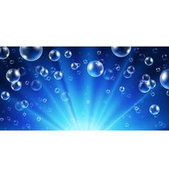 Abstract underwater background vector