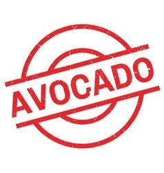 Avocado rubber stamp vector image vector image