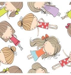 Background cheerful children vector