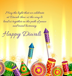 Beautiful card of diwali vector